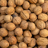 Walnuts. For sale at a morning market stand Royalty Free Stock Photography