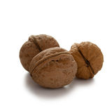 Walnuts. Isolated with clipping path on white background Royalty Free Stock Photos