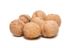 Walnuts. Walnauts  on white background Royalty Free Stock Photo