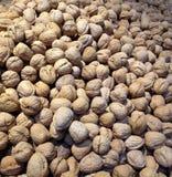 Walnuts. A lot of walnuts stock image