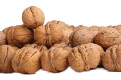 Walnuts. Background. not just nuts - like people - somebody on the top Stock Photography