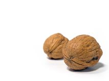 Walnuts. Isolated Royalty Free Stock Photo