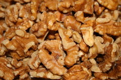 Walnuts. Close up of healthy no shell walnuts Stock Photo