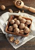 Walnuts from above royalty free stock photo