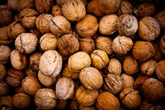 Walnuts  abstract natural background Royalty Free Stock Photo