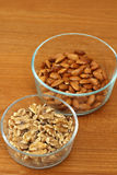Walnuts and Almonds Royalty Free Stock Image