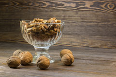 Walnuts and almonds in bowl Stock Image