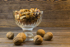 Walnuts and almonds in bowl Stock Photography