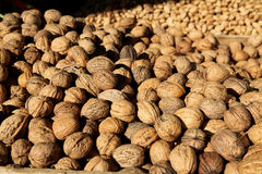 Walnuts and Almonds on a Greek Christmas Market stall Royalty Free Stock Photos