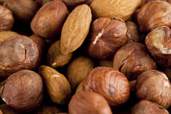 Walnuts and almonds Stock Photo