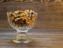 Walnuts and almonds in a vase Royalty Free Stock Photos