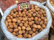 Walnuts, Athens Markets Royalty Free Stock Photo