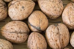 Walnuts background Royalty Free Stock Photo