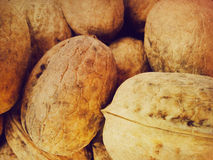Walnuts background Stock Photos