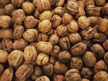 Walnuts background Stock Photos