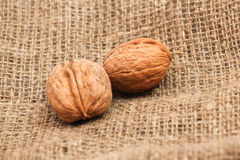 Walnuts in a bag Stock Photo