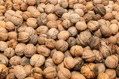 Walnuts in baskets Royalty Free Stock Images
