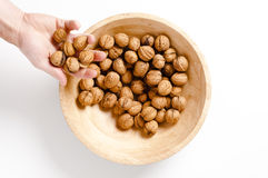 Walnuts in  bowl Stock Photography