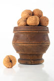 Walnuts in a bowl Royalty Free Stock Images