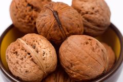 Walnuts in a bowl Stock Photos