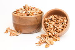 Walnuts in a bowl. On white background Royalty Free Stock Images