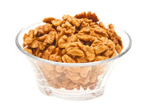 Walnuts in bowl. Stock Photo
