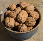 Walnuts In Bowl Royalty Free Stock Photos