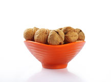 Walnuts with Bowl Royalty Free Stock Photos