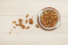 Walnuts in a bowl Stock Images