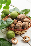 Walnuts in bucket Royalty Free Stock Photo