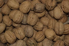 Walnuts in bulk. A background from nuts. Walnuts. Sale of nut. Nut background. Tasty food stock photos