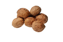 Walnuts. Calories health benefits diet Royalty Free Stock Photo
