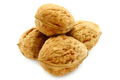 Walnuts close-up Stock Images