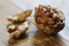 Walnuts close up Royalty Free Stock Photography