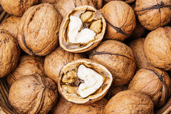 Walnuts close up Royalty Free Stock Image