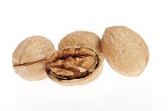 Walnuts close up Stock Images