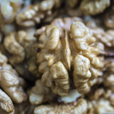 Walnuts in close up Stock Photo