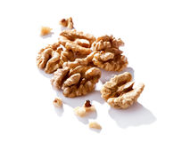 Walnuts close-up  isolated on white Stock Images