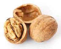 Walnuts in closeup Royalty Free Stock Images