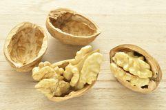 Walnuts in closeup 5. Walnuts close-up, dried fruit very good, Italian agriculture product Royalty Free Stock Photo