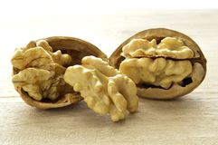 Walnuts in closeup 2. Walnuts close-up, dried fruit very good, Italian agriculture product Stock Photos