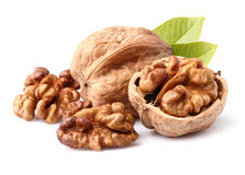 Walnuts in closeup Royalty Free Stock Photography