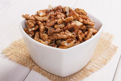 Walnuts containing zinc and dietary fiber, healthy nutrition Stock Photo