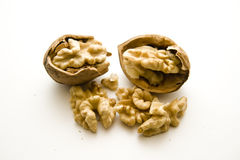 Walnuts cracked Stock Photos