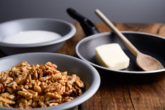 Walnuts crunchy Stock Images