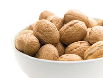 Walnuts in a cup Royalty Free Stock Images