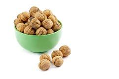 Walnuts in dish Stock Photos