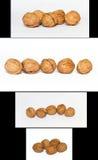 Walnuts four sets Royalty Free Stock Photo