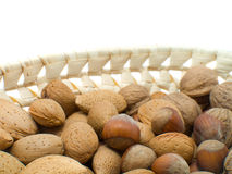 Walnuts, hazelnuts, Almonds Royalty Free Stock Images