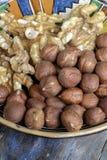 Walnuts and hazelnuts Royalty Free Stock Image